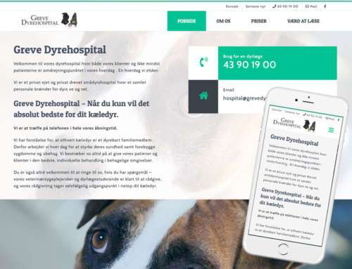 Professionel hjemmeside i WordPress, Greve Dyrehospital